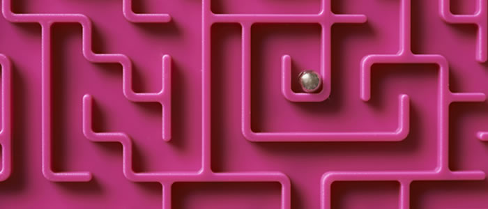 ball in centre of maze