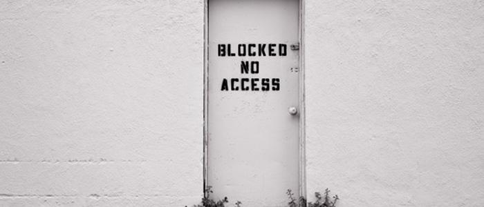 Blocked door