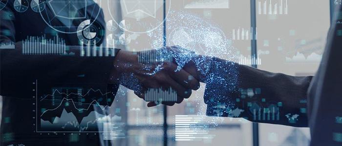 business graphs handshake