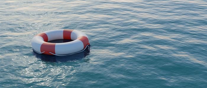 life buoy in sea