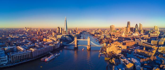 London skyline over the Thames
