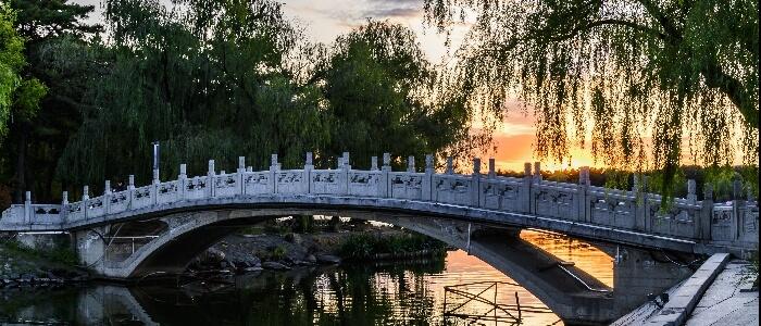 Chinese park bridge