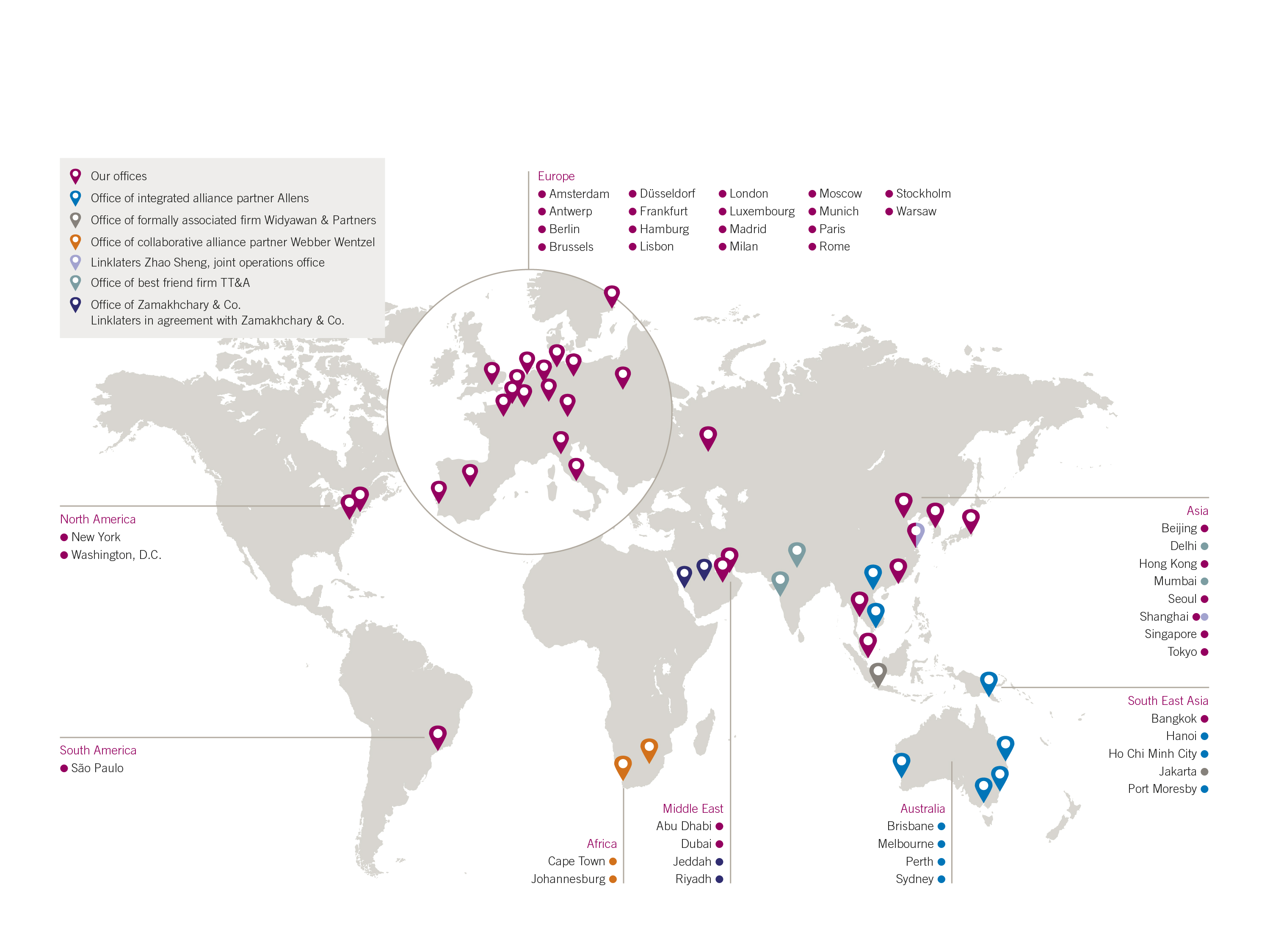 linklaters world map