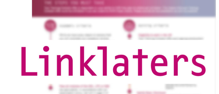 blurred contract with Linklaters logo