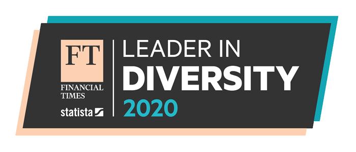 FT leader in diversity 2020 logo