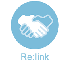 relink logo over building