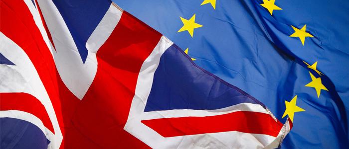 brexit union jack and eu flag