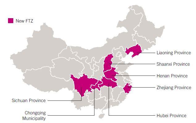 Asia Free Trade Map