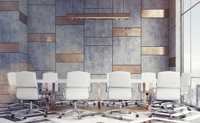 Marble and gold conference room 650x400