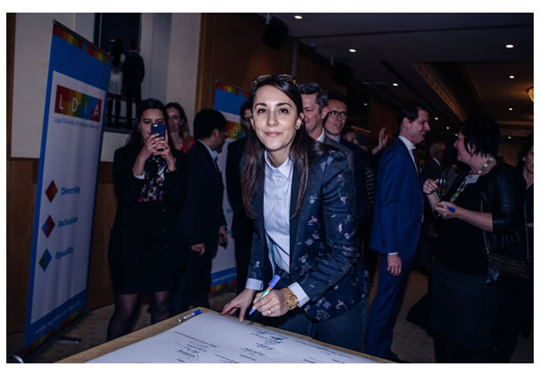 Sabrina Mameche signs the LDIA charter