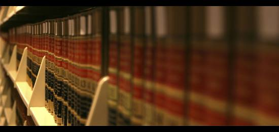 Legal books in a library