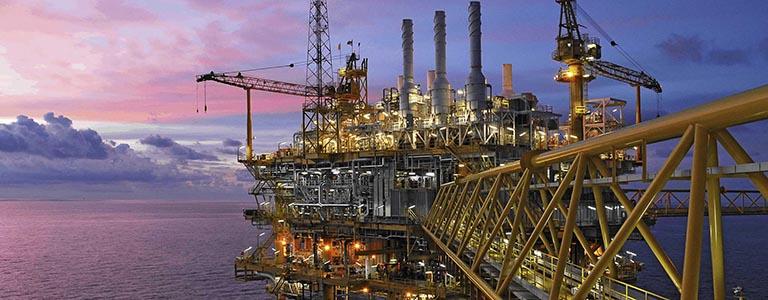 thumb oil gas platform