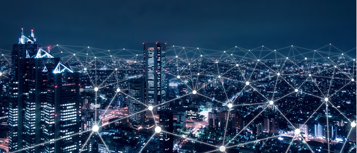 Photo of city with connecting